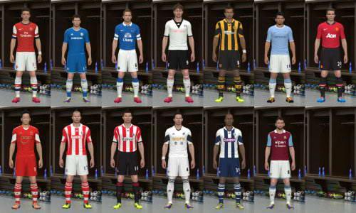 PES 2014 English Premier League Kits Pack 13/14