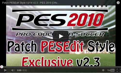 PES 2010 Patch PESEdit Style v2.3 AIO 2013-2014