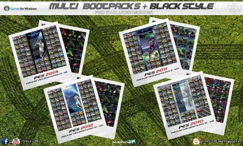 Multi PES Bootpacks+Black Style by Nilton1248
