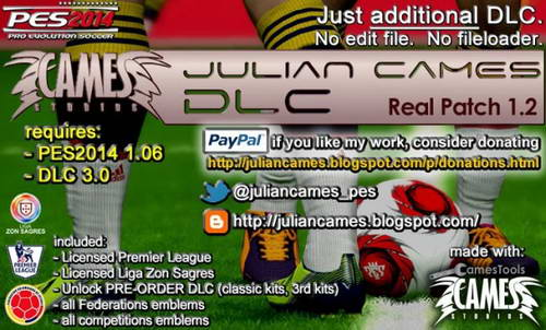 PES 2014 Real Patch 1.2 by Julian Cames DLC